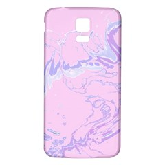 Unique Marbled 2 Baby Pink Samsung Galaxy S5 Back Case (White)