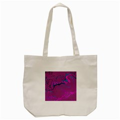 Unique Marbled 2 Hot Pink Tote Bag (Cream)