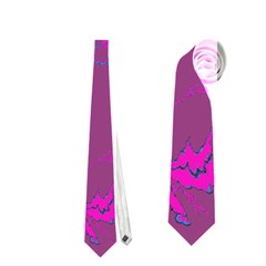 Unique Marbled 2 Hot Pink Neckties (one Side)