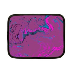 Unique Marbled 2 Hot Pink Netbook Case (Small)
