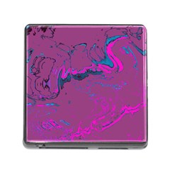 Unique Marbled 2 Hot Pink Memory Card Reader (Square)