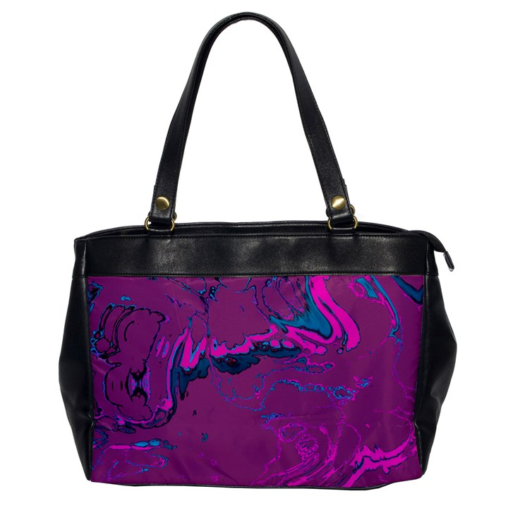 Unique Marbled 2 Hot Pink Office Handbags