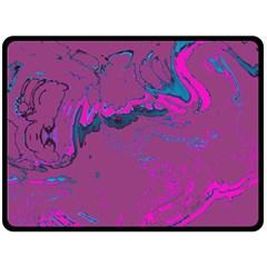 Unique Marbled 2 Hot Pink Fleece Blanket (large)