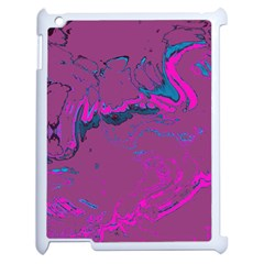 Unique Marbled 2 Hot Pink Apple iPad 2 Case (White)