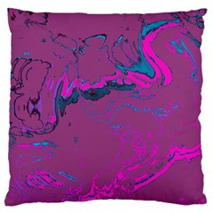 Unique Marbled 2 Hot Pink Large Cushion Cases (One Side)