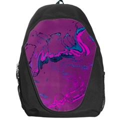 Unique Marbled 2 Hot Pink Backpack Bag