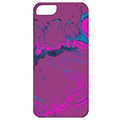 Unique Marbled 2 Hot Pink Apple iPhone 5 Classic Hardshell Case