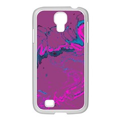Unique Marbled 2 Hot Pink Samsung GALAXY S4 I9500/ I9505 Case (White)
