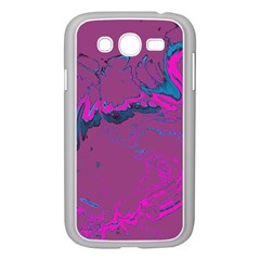 Unique Marbled 2 Hot Pink Samsung Galaxy Grand DUOS I9082 Case (White)