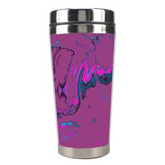 Unique Marbled 2 Hot Pink Stainless Steel Travel Tumblers