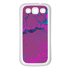 Unique Marbled 2 Hot Pink Samsung Galaxy S3 Back Case (White)