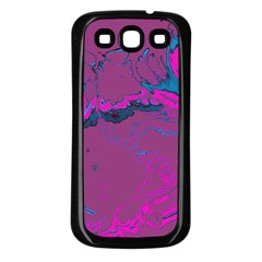 Unique Marbled 2 Hot Pink Samsung Galaxy S3 Back Case (Black)