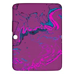 Unique Marbled 2 Hot Pink Samsung Galaxy Tab 3 (10.1 ) P5200 Hardshell Case