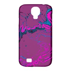 Unique Marbled 2 Hot Pink Samsung Galaxy S4 Classic Hardshell Case (PC+Silicone)