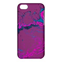 Unique Marbled 2 Hot Pink Apple iPhone 5C Hardshell Case