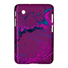 Unique Marbled 2 Hot Pink Samsung Galaxy Tab 2 (7 ) P3100 Hardshell Case