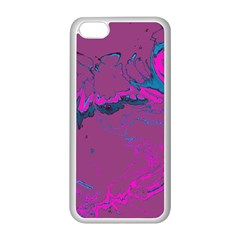 Unique Marbled 2 Hot Pink Apple iPhone 5C Seamless Case (White)