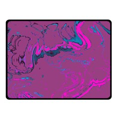Unique Marbled 2 Hot Pink Double Sided Fleece Blanket (Small)