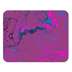 Unique Marbled 2 Hot Pink Double Sided Flano Blanket (Large)