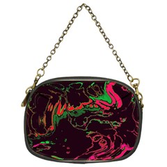 Unique Marbled 2 Tropic Chain Purses (One Side)