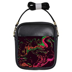 Unique Marbled 2 Tropic Girls Sling Bags
