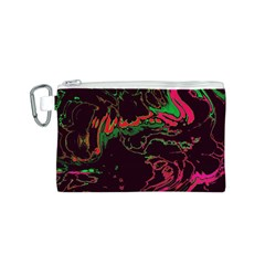 Unique Marbled 2 Tropic Canvas Cosmetic Bag (S)