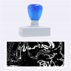 Unique Marbled 2 Blue Rubber Stamps (Large)