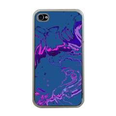 Unique Marbled 2 Blue Apple iPhone 4 Case (Clear)