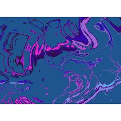 Unique Marbled 2 Blue Birthday Cake 3d Greeting Card (7x5)