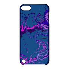 Unique Marbled 2 Blue Apple iPod Touch 5 Hardshell Case with Stand