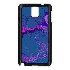 Unique Marbled 2 Blue Samsung Galaxy Note 3 N9005 Case (Black)