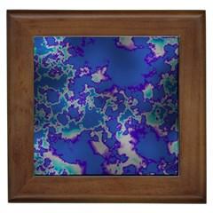 Unique Marbled Blue Framed Tiles