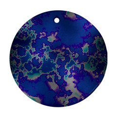 Unique Marbled Blue Ornament (round)
