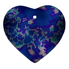 Unique Marbled Blue Ornament (heart)