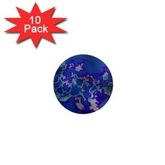Unique Marbled Blue 1  Mini Magnet (10 Pack)