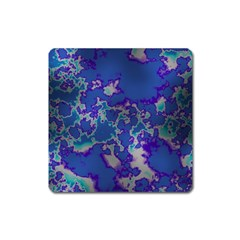 Unique Marbled Blue Square Magnet