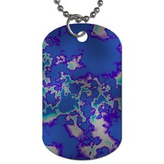 Unique Marbled Blue Dog Tag (one Side)