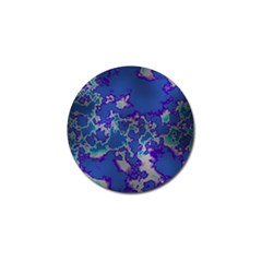 Unique Marbled Blue Golf Ball Marker