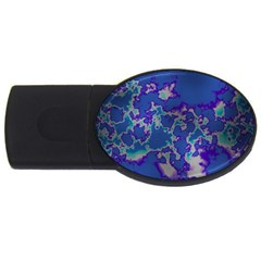 Unique Marbled Blue Usb Flash Drive Oval (2 Gb)
