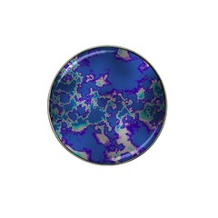 Unique Marbled Blue Hat Clip Ball Marker (10 Pack)