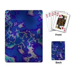 Unique Marbled Blue Playing Card