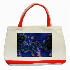 Unique Marbled Blue Classic Tote Bag (red)