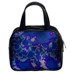 Unique Marbled Blue Classic Handbags (2 Sides)