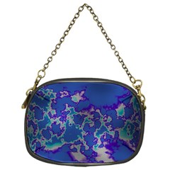 Unique Marbled Blue Chain Purses (one Side)