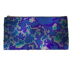 Unique Marbled Blue Pencil Cases