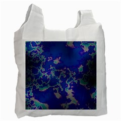Unique Marbled Blue Recycle Bag (one Side)