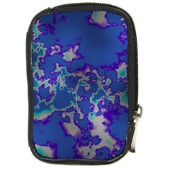 Unique Marbled Blue Compact Camera Cases