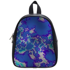 Unique Marbled Blue School Bags (small)