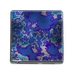 Unique Marbled Blue Memory Card Reader (square)