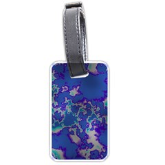 Unique Marbled Blue Luggage Tags (Two Sides)